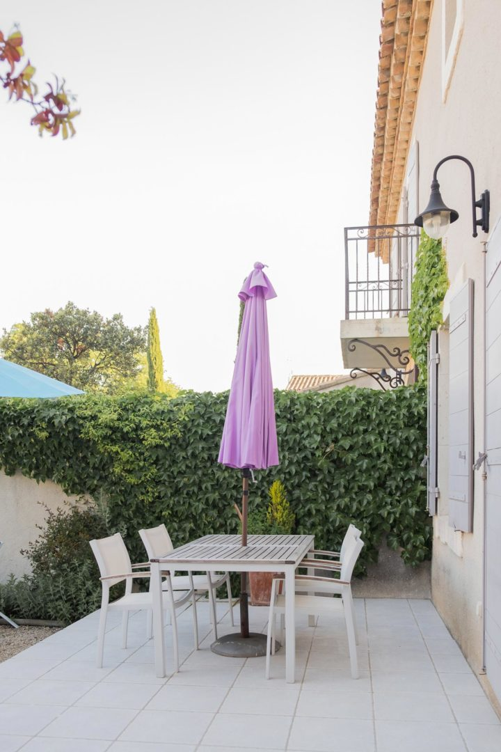 Terrace of house Papillon Mititia residence Provence